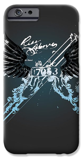 Enhanced iPhone Cases - Rise Above iPhone Case by Pop Culture Prophet