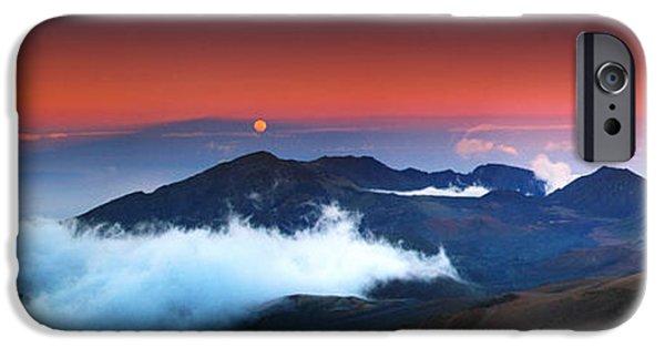 Peak iPhone Cases - Rise and Set at Haleakalas Peak  iPhone Case by Marco Crupi