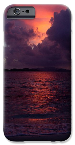 Abstract Seascape iPhone Cases - Rise Early iPhone Case by Jared Shomo
