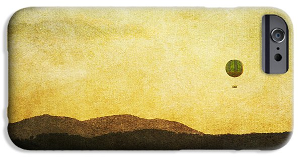 Hot Air Balloon iPhone Cases - Rising Above iPhone Case by Cindy Tiefenbrunn