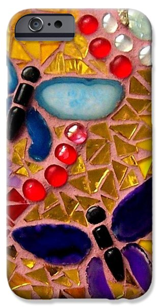Tile Glass Art iPhone Cases - Rising  Above the Circumstances iPhone Case by Kathleen Luther