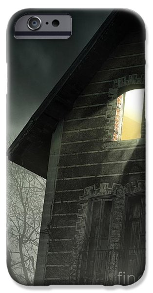 Haunted House iPhone Cases - Rising Fog iPhone Case by Carlos Caetano