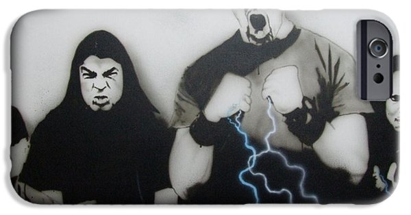 Metallica Paintings iPhone Cases - Rising Metallic Storm iPhone Case by Christian Chapman Art