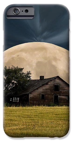 Haunted House iPhone Cases - Rising Moon iPhone Case by Xenia Headley