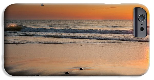 Cape Cod Landscapes iPhone Cases - Rising Sun iPhone Case by Bill  Wakeley