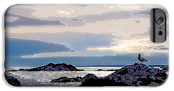 Coastal Decor Digital Art iPhone Cases - Rising Tide iPhone Case by Bill Caldwell -        ABeautifulSky Photography