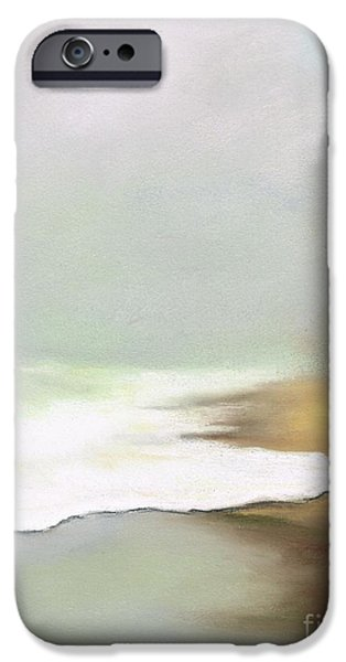 Contemporary Abstract Pastels iPhone Cases - Rising Tides iPhone Case by Frances Marino