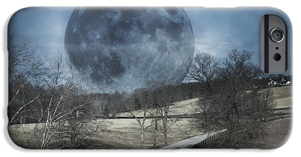 Recently Sold -  - Forest iPhone Cases - Rising to the Moon iPhone Case by Betsy A  Cutler