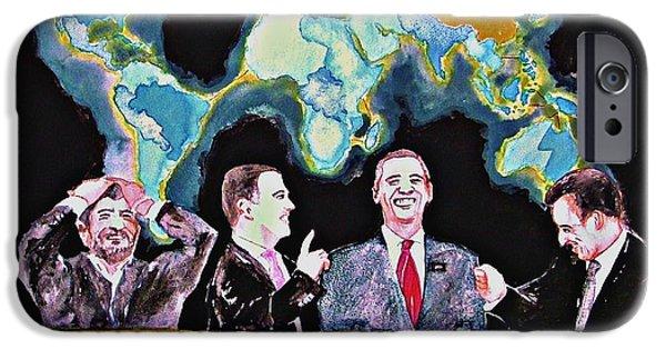 Politician iPhone Cases - Risk a coup de grace 2010 iPhone Case by Ken Higgins
