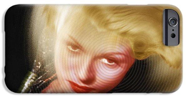 Rita iPhone Cases - Rita Hayworth and Hair iPhone Case by Tony Rubino