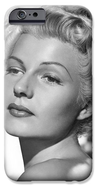 Rita iPhone Cases - Rita Hayworth in The Lady from Shanghai iPhone Case by Nomad Art And  Design