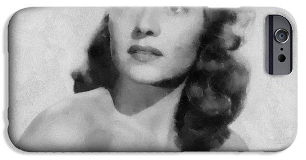 Rita iPhone Cases - Rita Hayworth Poster iPhone Case by Dan Sproul