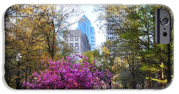 Phillies Digital iPhone Cases - Rittenhouse Square in Springtime iPhone Case by Bill Cannon