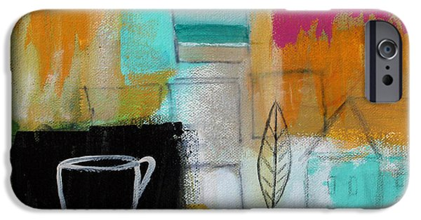 Pillow iPhone Cases - Rituals- Contemporary Abstract Painting iPhone Case by Linda Woods