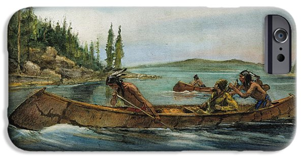 Recently Sold -  - Canoe iPhone Cases - Rival Fur Traders  iPhone Case by Granger