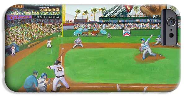 Baseball Stadiums Paintings iPhone Cases - Rivalry iPhone Case by Ryan Williams