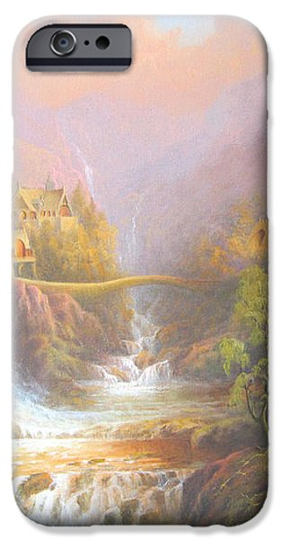 Rivendell A Hobbits Tale. The Red Book iPhone Case by Joe  Gilronan