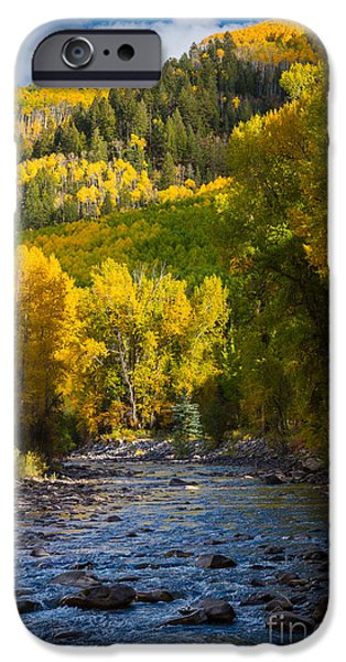 River and Aspens iPhone Case by Inge Johnsson