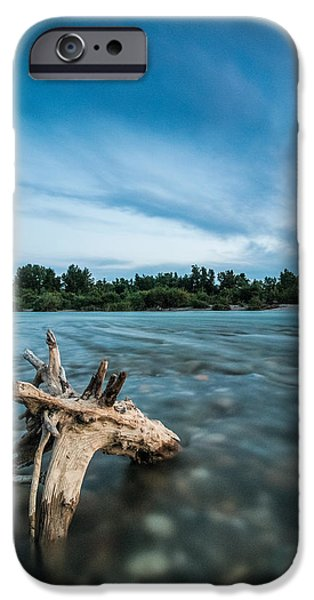 Clouds Photographs iPhone Cases - River at night iPhone Case by Davorin Mance