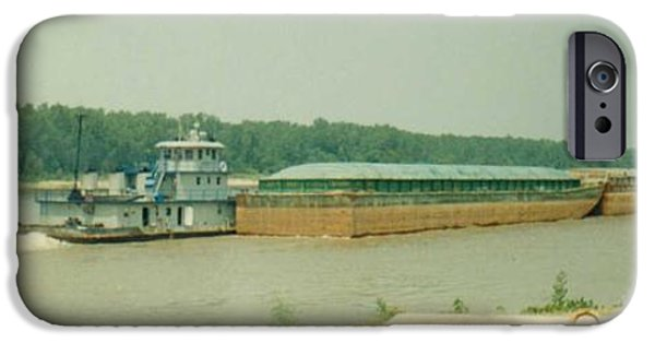 Arkansas iPhone Cases - River Barge iPhone Case by Danny Hicks