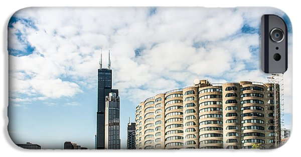 Willis Tower iPhone Cases - River City Apartments and Willis Tower iPhone Case by Semmick Photo