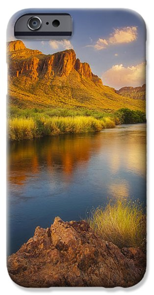 Peter Coskun iPhone Cases - River Days iPhone Case by Peter Coskun