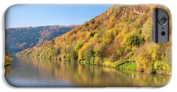 Autumn iPhone Cases - River Flowing In A Valley In Autumn iPhone Case by Panoramic Images