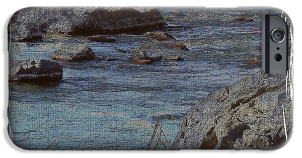 Matting iPhone Cases - River Flows iPhone Case by Bobbee Rickard