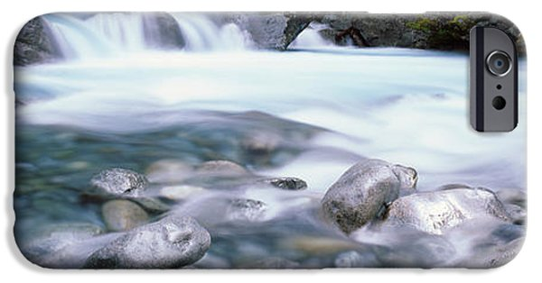 Park Scene iPhone Cases - River, Hollyford River, Fiordland iPhone Case by Panoramic Images