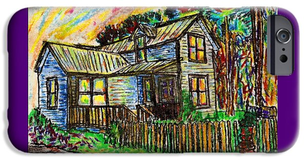 House Pastels iPhone Cases - River House iPhone Case by W Gilroy