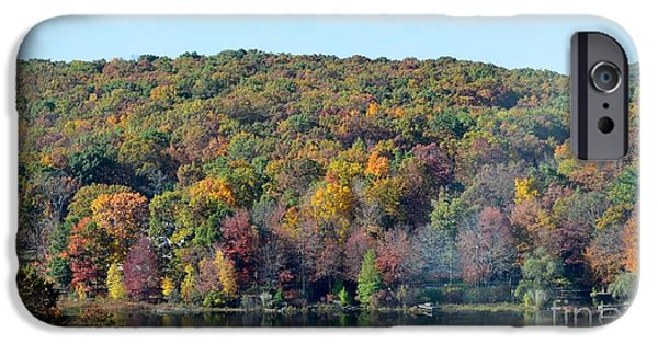 River View Pyrography iPhone Cases - River in North east Pennsylvania iPhone Case by Carolyn Freligh