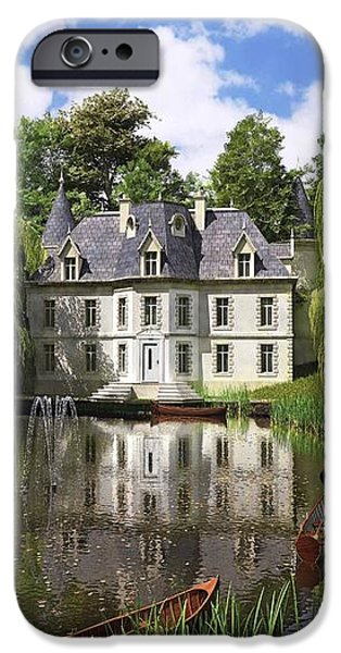 River Mansion iPhone Case by Dominic Davison