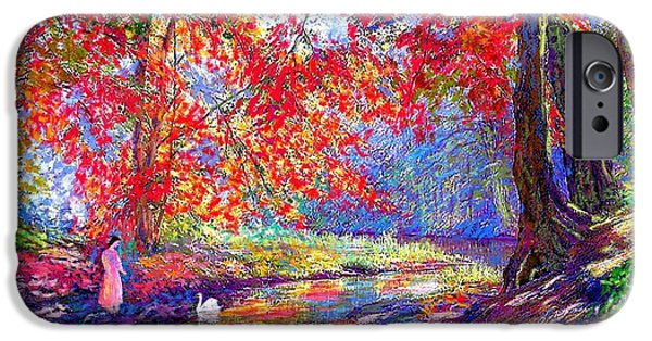 Healing Paintings iPhone Cases - River of Life iPhone Case by Jane Small