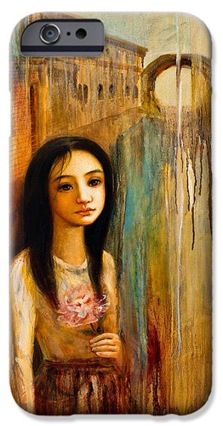 Young Paintings iPhone Cases - River of Memory iPhone Case by Shijun Munns