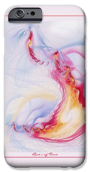 Digital Fine Pastels iPhone Cases - River of Time iPhone Case by Gayle Odsather