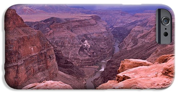 Grand Canyon iPhone Cases - River Passing Through A Canyon iPhone Case by Panoramic Images