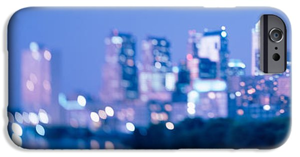 Schuylkill iPhone Cases - River Passing Through A City iPhone Case by Panoramic Images