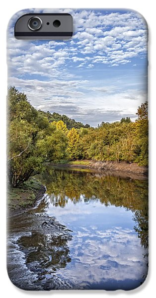 Oak Creek iPhone Cases - River Reflections iPhone Case by Debra and Dave Vanderlaan