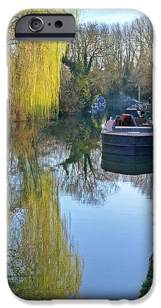 Reflections In River iPhone Cases - River Reflections  iPhone Case by Gill Billington