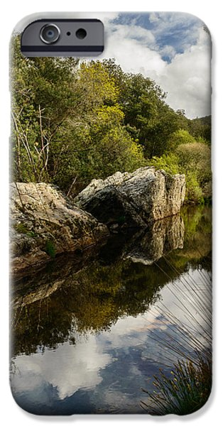 Reflections In River iPhone Cases - River Reflections II iPhone Case by Marco Oliveira