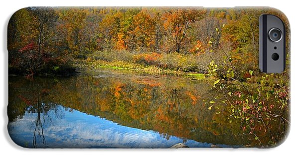 Litchfield County Landscape iPhone Cases - River Runs Through It iPhone Case by Diana Angstadt