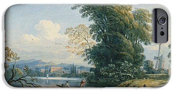 Punting iPhone Cases - River Scene iPhone Case by John Varley