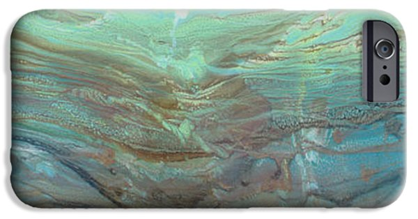 Gallery Owners Paintings iPhone Cases - River Stone I iPhone Case by Sheila Elsea