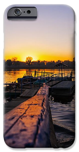 River Sunset iPhone Case by Svetlana Sewell