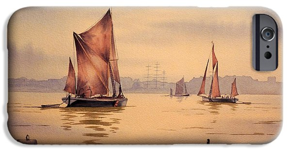 Naval College iPhone Cases - River Thames At Greenwich London iPhone Case by Bill Holkham