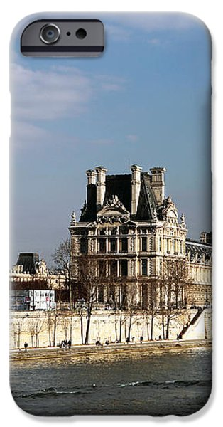 River View in Paris iPhone Case by John Rizzuto