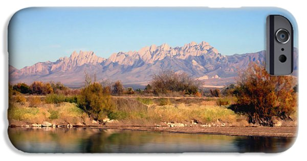 Las Cruces Digital Art iPhone Cases - River view Mesilla iPhone Case by Kurt Van Wagner