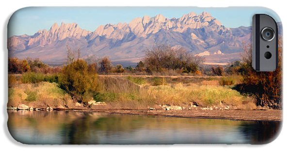 Las Cruces Digital Art iPhone Cases - River View Mesilla Panorama iPhone Case by Kurt Van Wagner