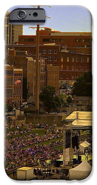 Riverfront Concert iPhone Case by Diana Powell