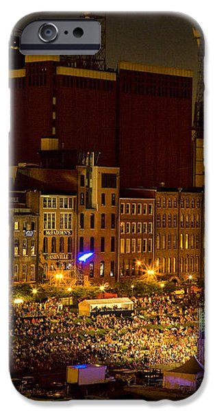Riverfront Evening Concert iPhone Case by Diana Powell